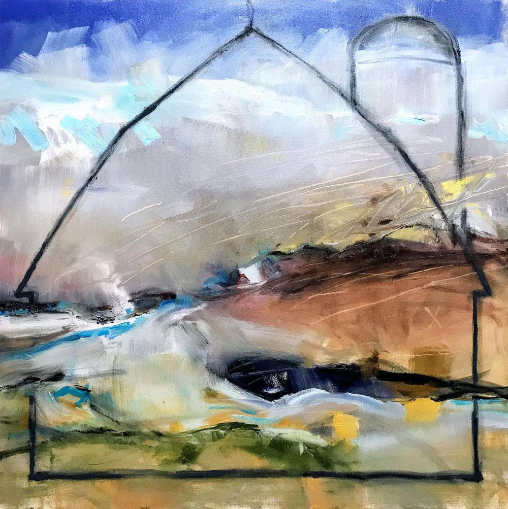 "Resurrection 2  , Oil on Canvas, 36"" X 36"""