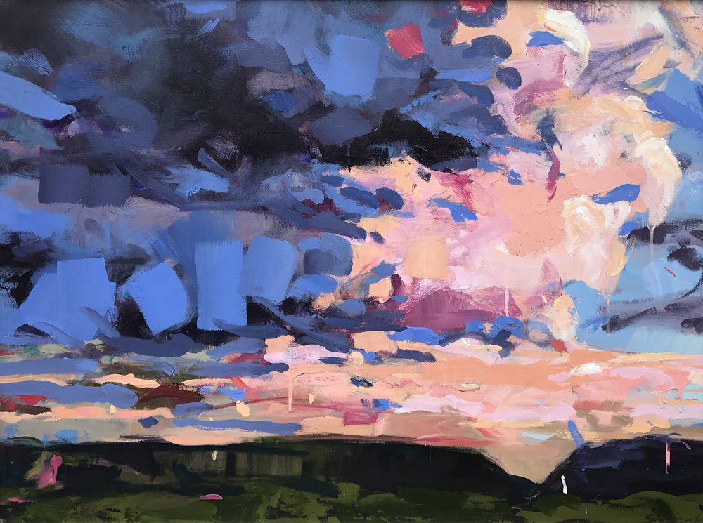 "Cloud Five   by Sally Veach, Acrylic on Canvas, 30"" X 40"", Collection of City of Alexandria, VA"