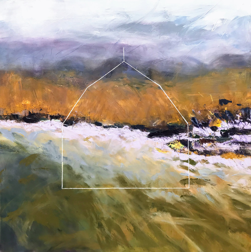 "Autumn Resurrection  by Sally Veach, Oil on Canvas, 48"" X 48"", to be exhibited at The Museum of the Shenandoah Valley, July 2019"