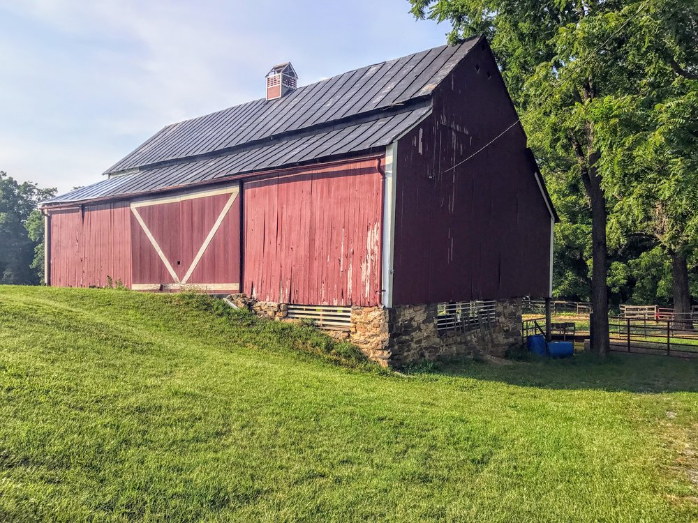 A circa 1814 barn in Shenandoah County.
