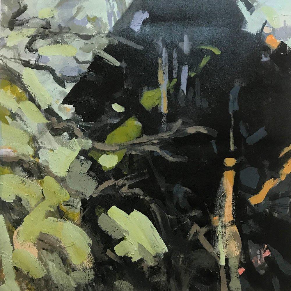 "Vines Demise  , Acrylic on Canvas, 24"" X 24"""