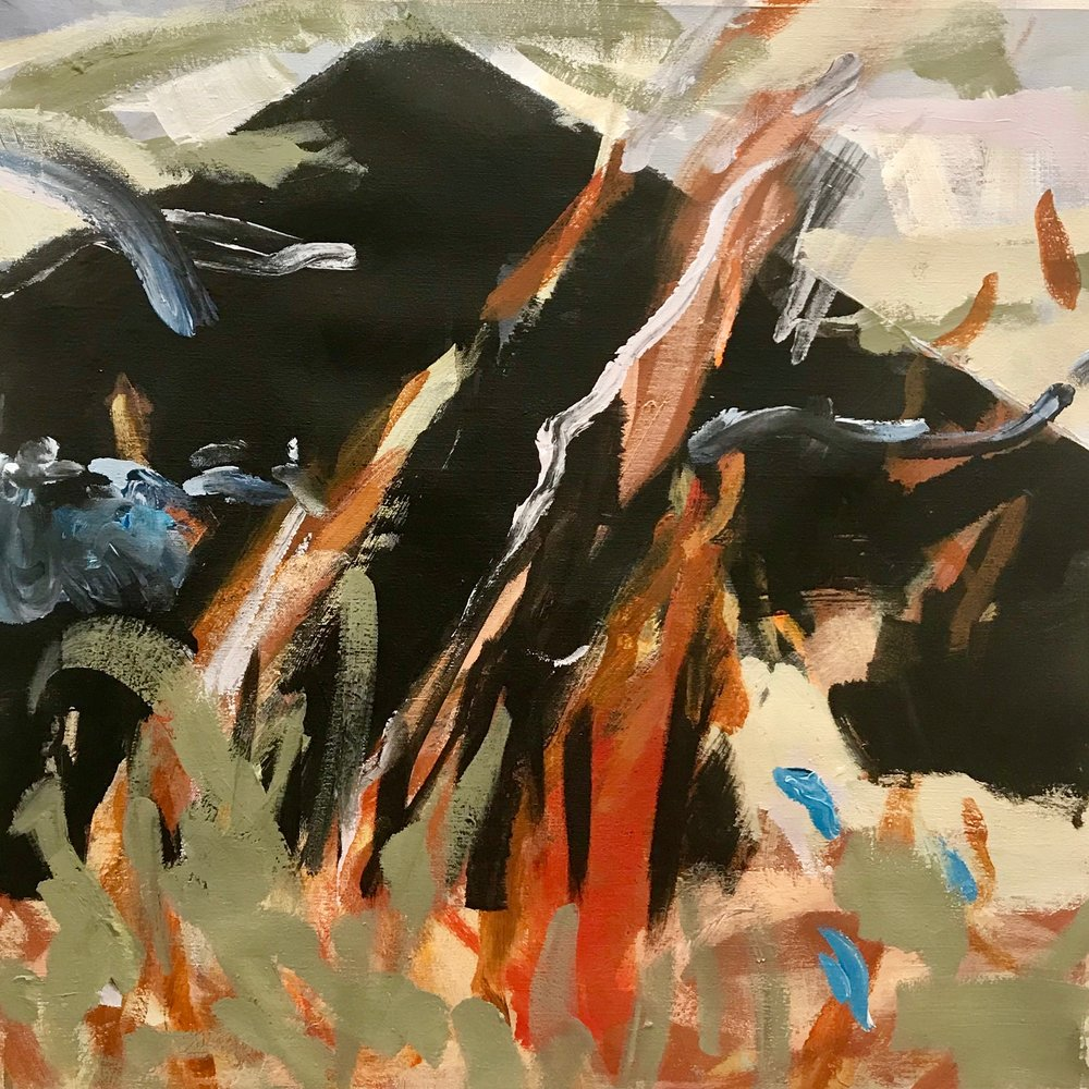 "The Burning  , Acrylic on Canvas, 24"" X 24"""
