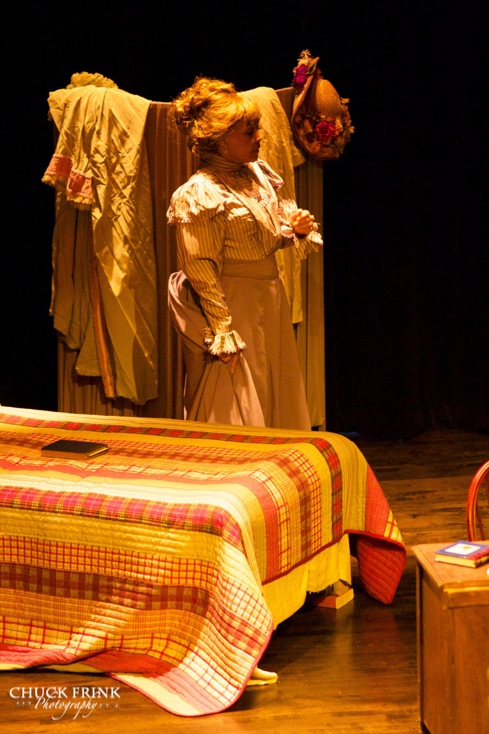 """I Could Learn to Love Him""   Lisa Edwards-Burrs as Alice Ruth Moore  ""The Poet"",  Scene 15 Paul Lawrence Dunbar High School, 2014."