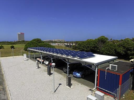 Solar and energy storage installation at the Nelson Mandela University in Port Elizabeth, South Africa