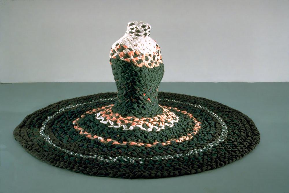 Spiral Betty, 1996  Braided Cloth, armature 6' dia, 2.5'h