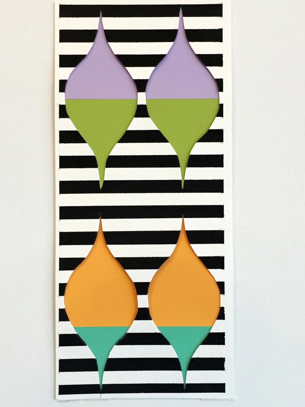 """Cut Paper, 11"""" x 5"""", 2015"""