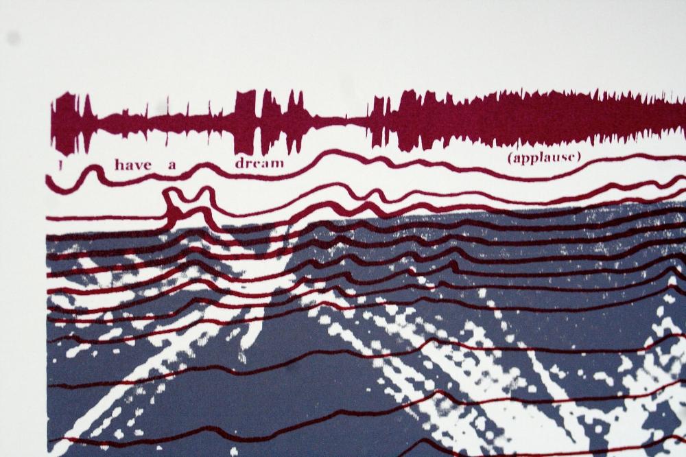 """Complex Connections, 30""""x20"""", Silk Screen Print,Kristen Powell, 2012 (Detail shot)"""