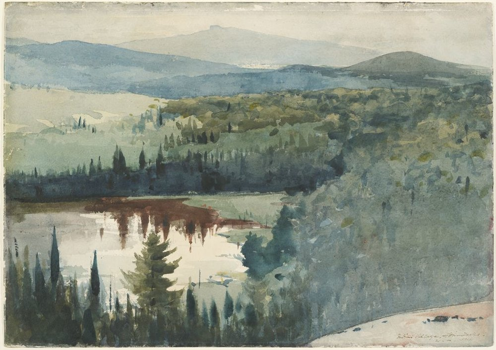 Indian Village, Adirondacks (Winslow Homer, 1894)