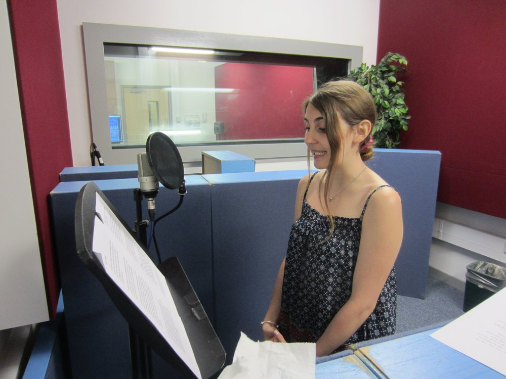 Recording Lucy the narrator of the Middlesbrough story