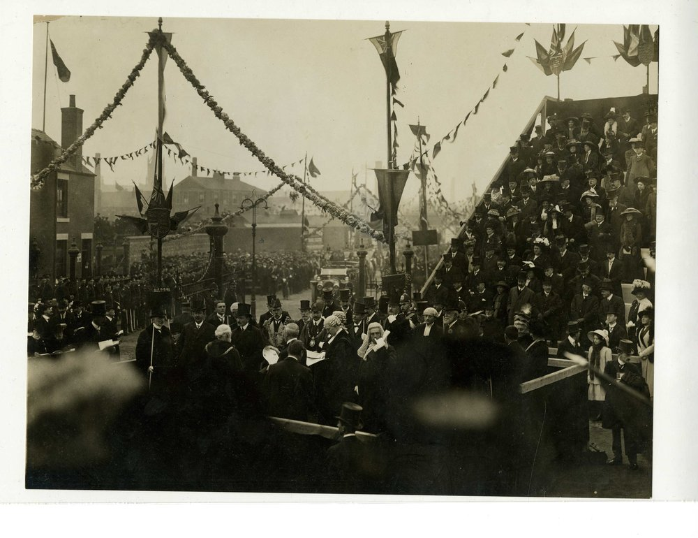The opening of the Tees Transporter Bridge, Middlesbrough: 17 October, 1911.