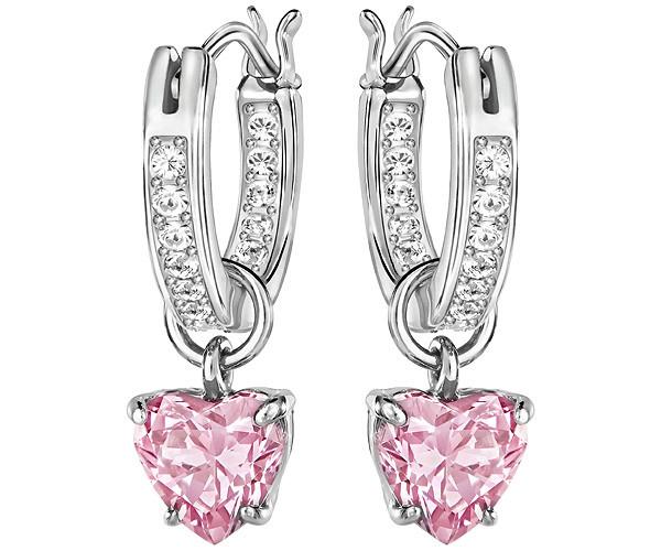 43a9b420f327e9 Swarovski Attract Heart Hoop Pierced Earrings 5188402 ...
