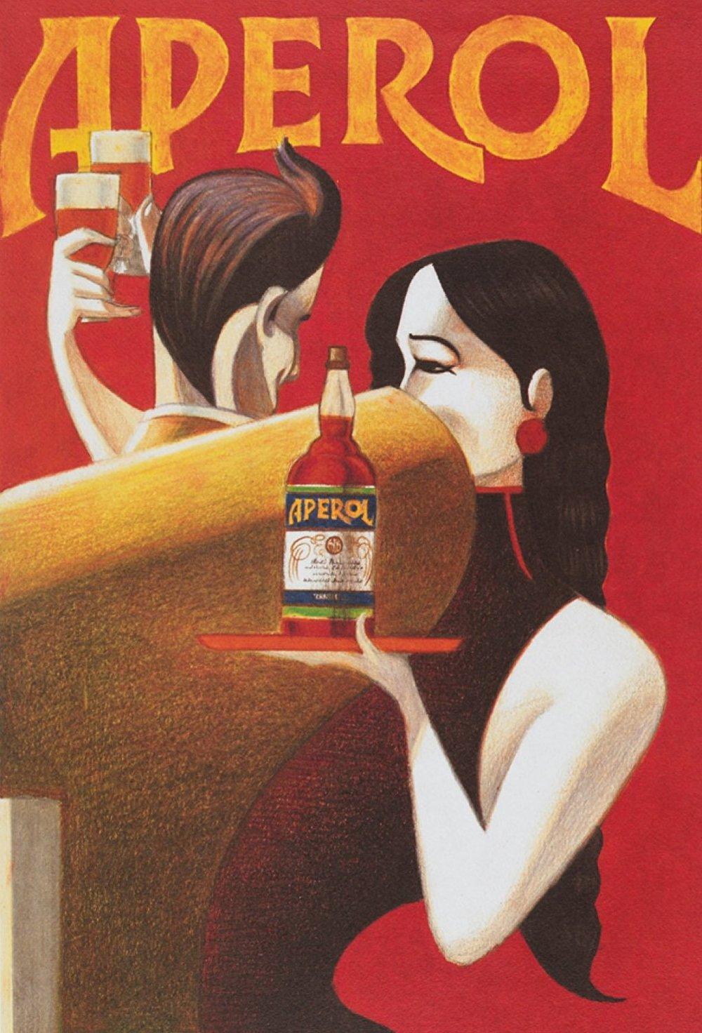 "Poster Aperol ""Randez-Vous"", por   Lorenzo Mattotti"