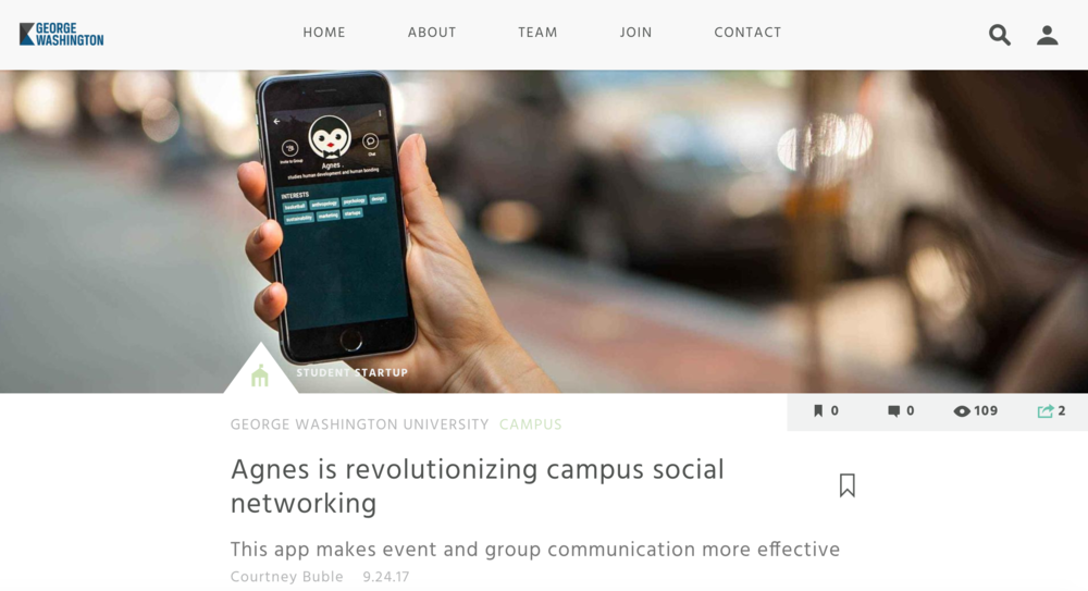 Agnes is Revolutionizing Campus Social Networking - By Courtney Buble