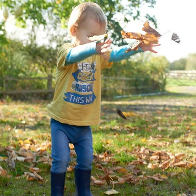 Who's enjoying Autumn as much as we are?! 🍁  #autumn #autumnleaves #fall #motherhoodthroughinstagram #toddlerfun #farmlife #farmkids #seasonspoetry #letthemplay #winteriscoming #autumnvibes #flowerfarm #getoutside #lessstoresmoreoutdoors #youngfarmer #forage #whimsicalwonderfulwild #forestschool