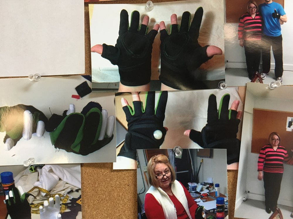 Helping a Purdue student with an industrial design project: human interactive fitness gloves