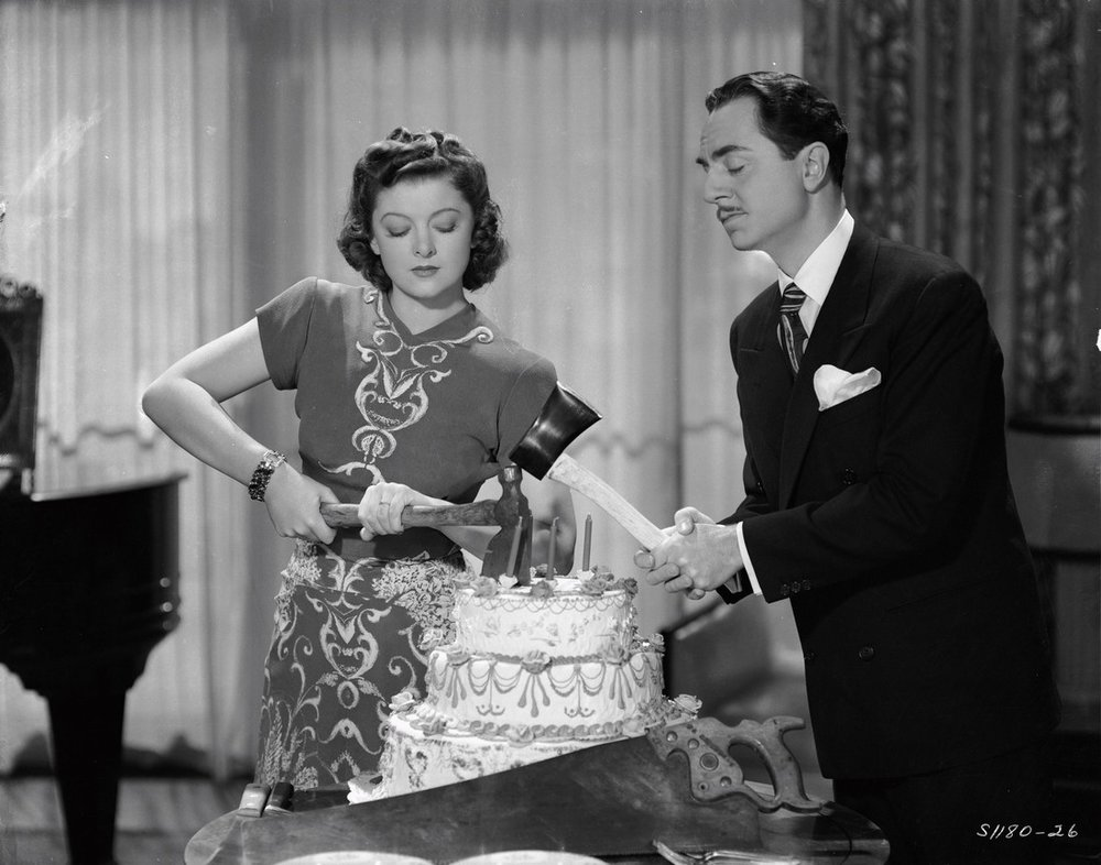 Myrna Loy and William Powell in Love Crazy (1941)