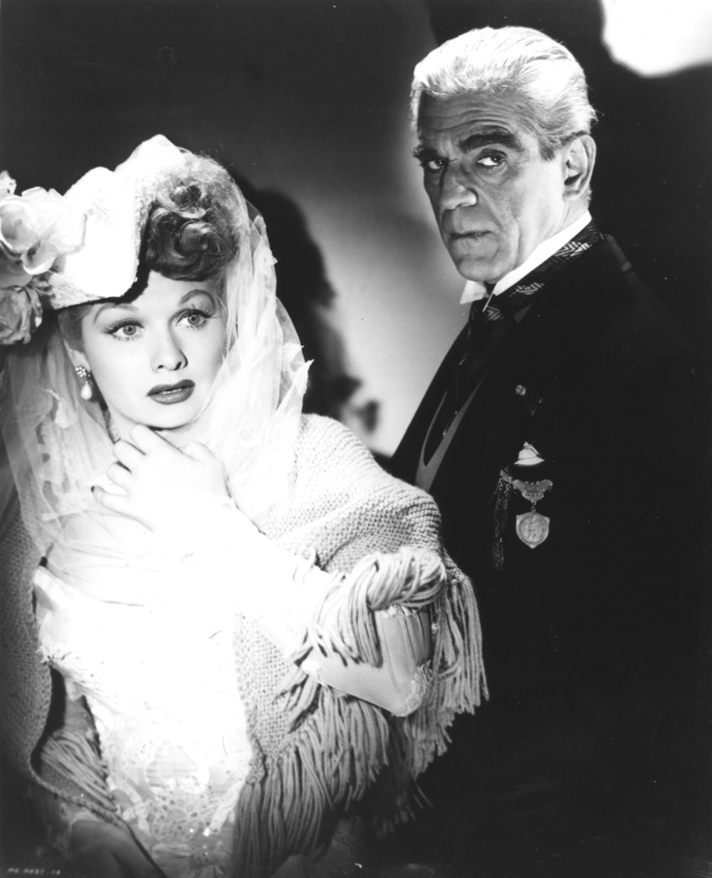 Lucille Ball and Boris Karloff (Lured 1947)