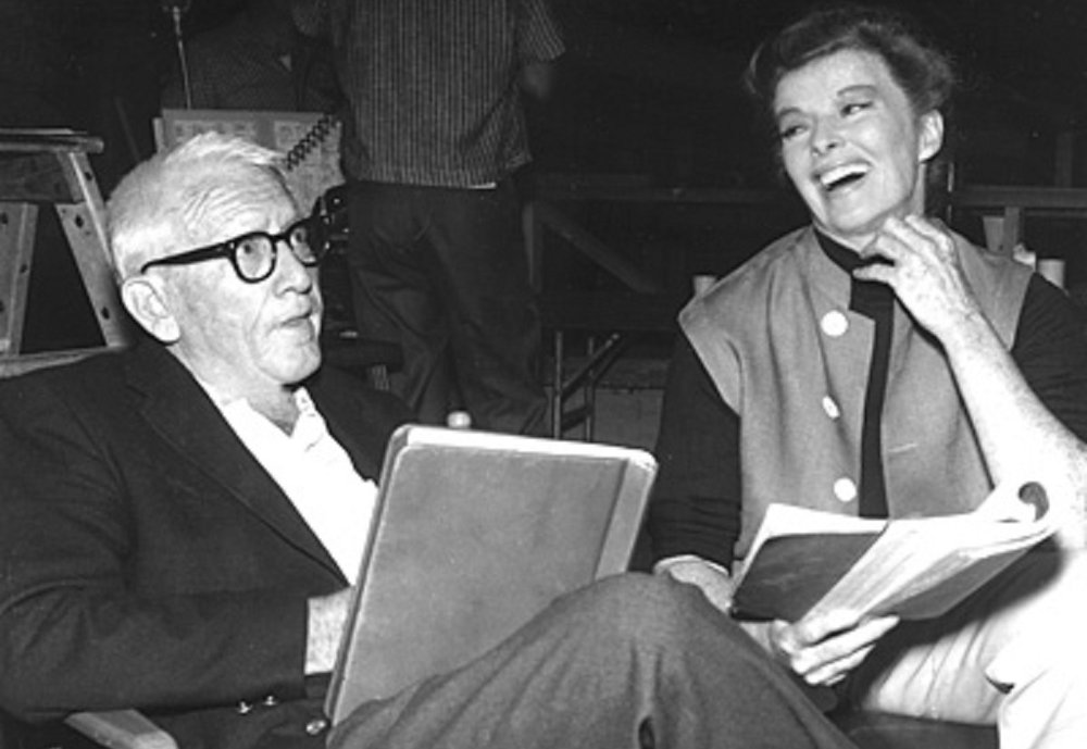 "Katharine Hepburn has to be the Queen of the Comeback!  After being labeled as ""box office poison"" in the mid to late 30's, Kate went on to win three more Oscars... 30 years later!  Here she is pictured with Spencer Tracy on the set of  Guess Who's Coming to Dinner (1967)."