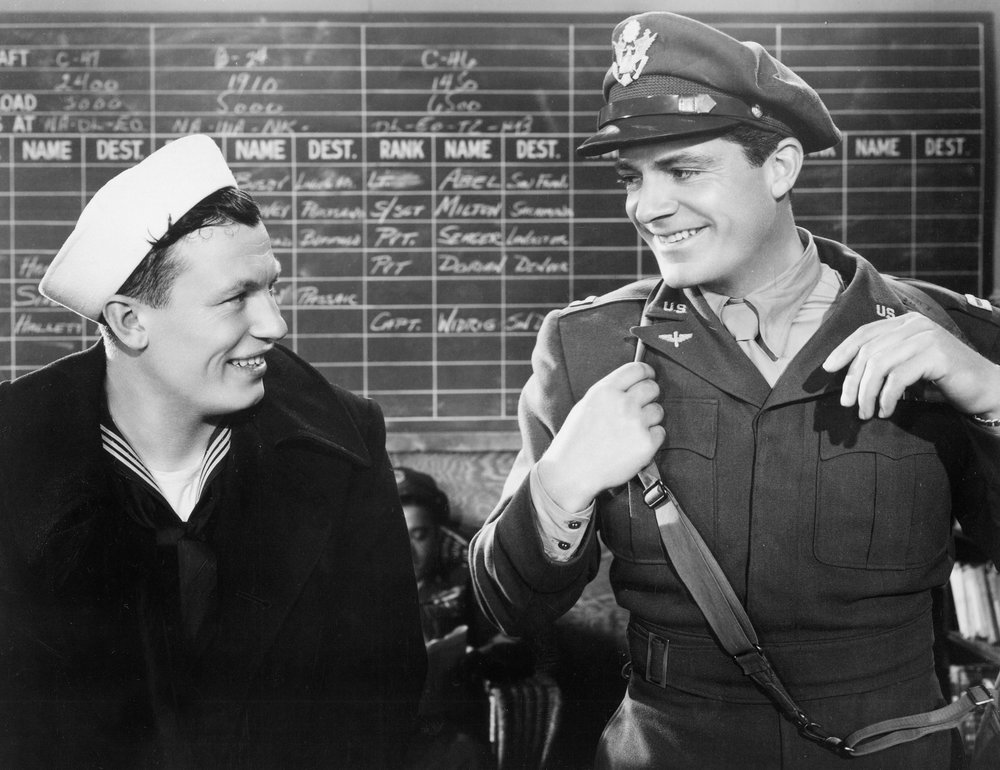 Harold Russell and Dana Andrews in The Best Years of Our Lives