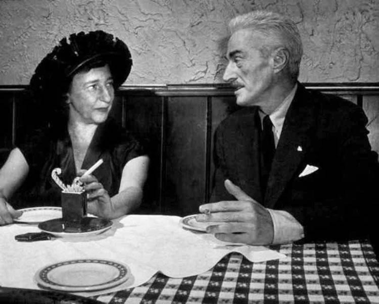 Dashiell Hammett with long-time companion playwrite Lillian Hellman