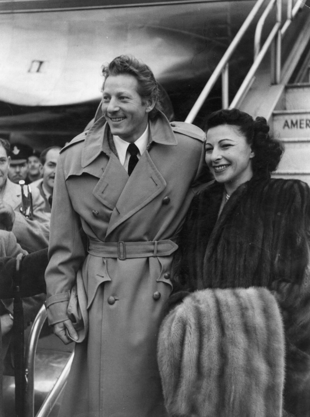 Danny Kaye with wife Sylvia Fine (1948)