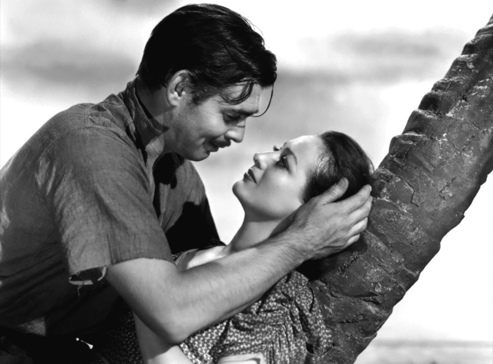 Clark Gable and Joan Crawford in Strange Cargo (1940)