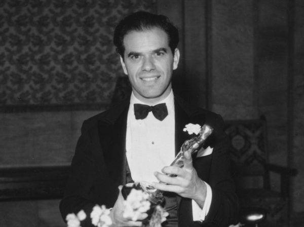 Frank Capra with Oscar for   Best Director                  for It Happened One Night (1934)