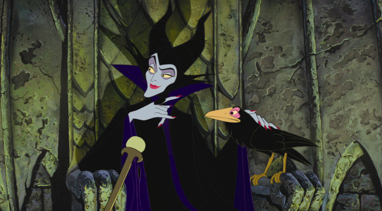Maleficent and Diablo in Sleeping Beauty (1959)