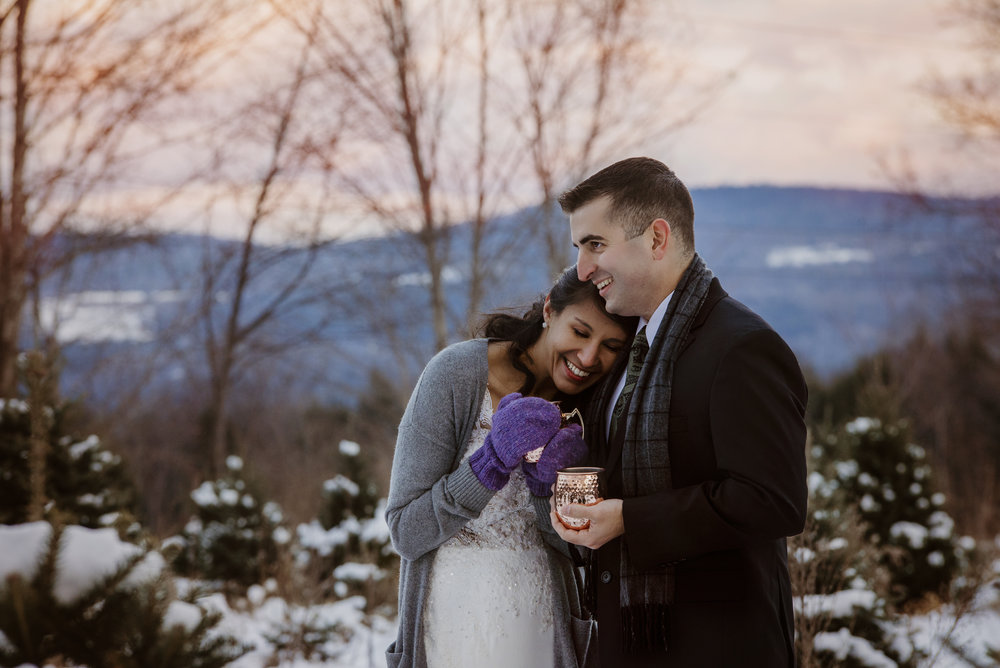 Winter Velvet - A Vermont stylized Wedding