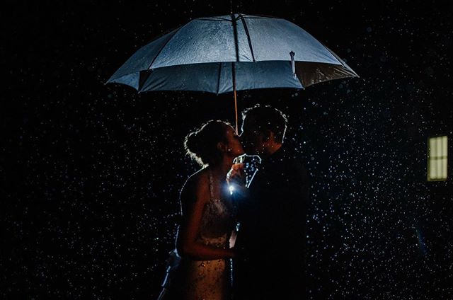 Even the rain shines on our love.
