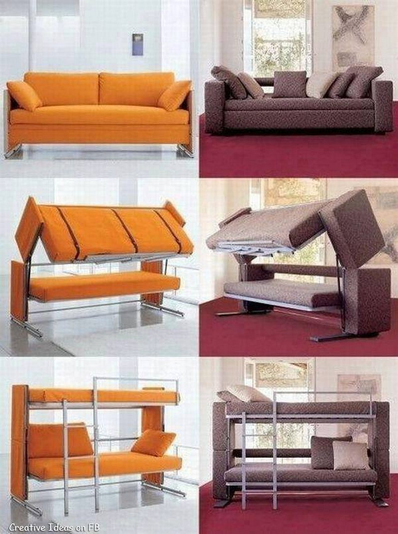 All in One Couch Bed ------------------------------------------------- Couch converts into twin size bunk bed $449.99