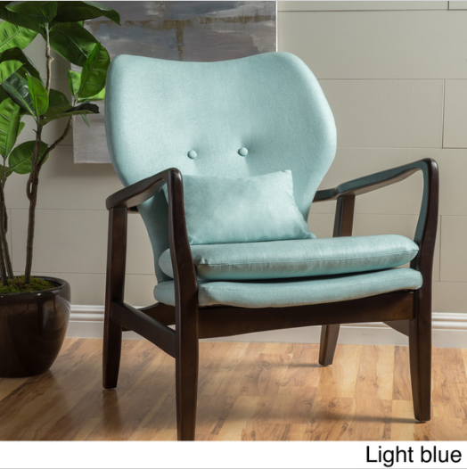 Christopher Knight Fabric Club Chair -------------------------------------------------- The wood frame club chair combines a classic french style with a bold look that will complete any decor $149.99