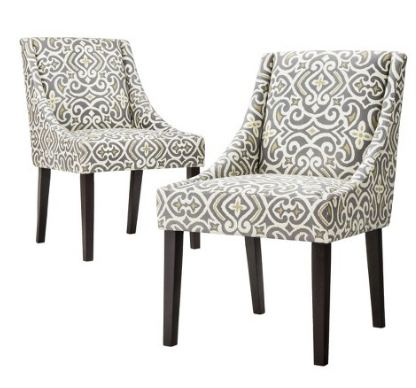 Griffin Cutback Dining Chair --------------------------------------------------- Made up of high quality fabric and wood. Its decorated for a fancy night Italian leather chair $79.99