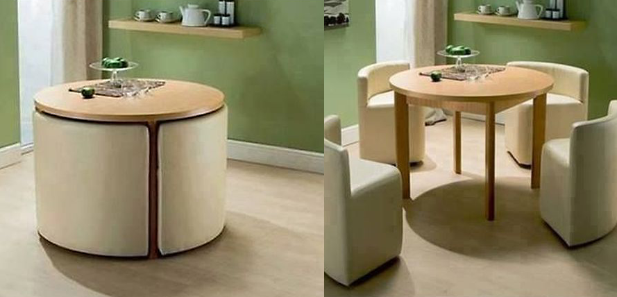 Dining Table and Chairs ------------------------------------------ Two in one dining table Chairs around table for guests Space saving $119.99
