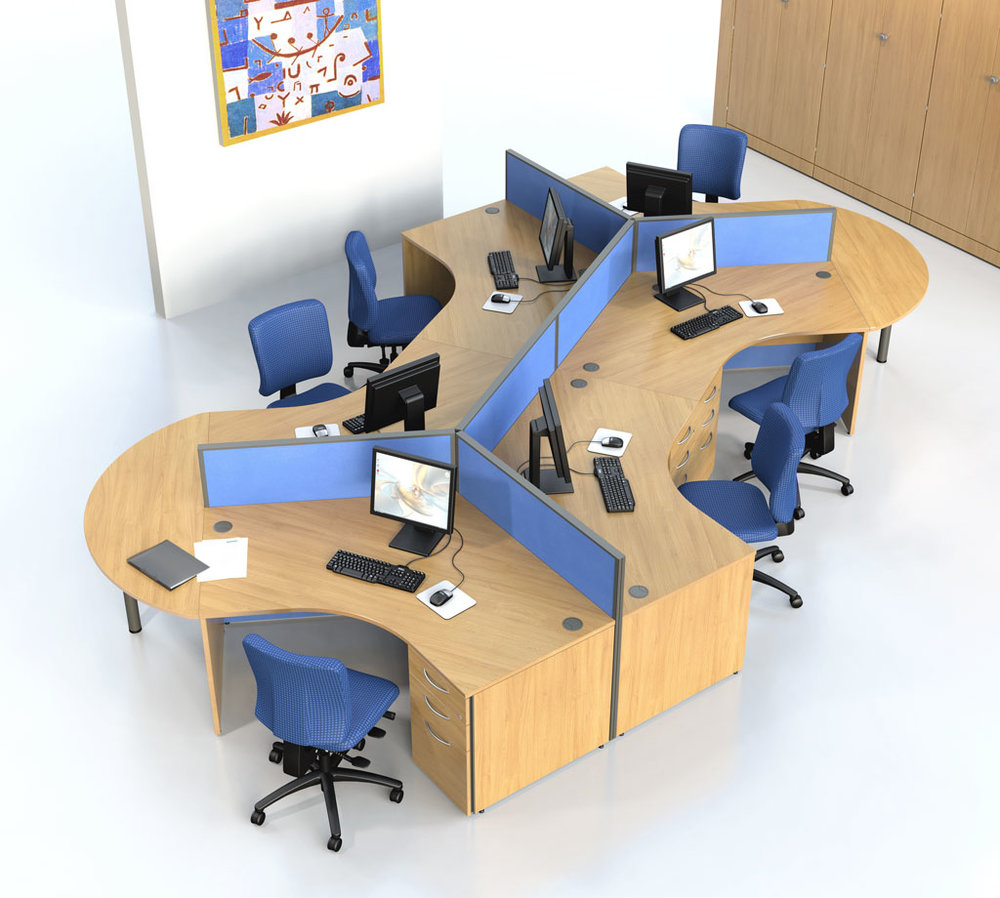 Office Desk ----------------------------------------------------------- Offers more than one section on one table Each section can hold files $340.00