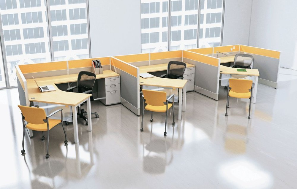 The Cubicle ----------------------------------------------------------- Worrying about where to put your office work? This desk provides you the space that's needed to save your work and not worry about losing it. $589.99