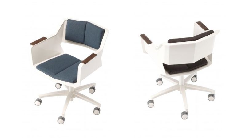 SCOOP CHAIR -------------------------------------- STYLISH MODERN DESIGN. PERFECT FOR SMALL COMPACT SPACE. $49.99