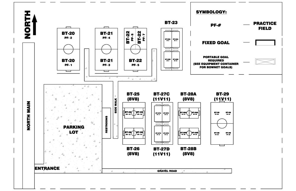 field's legend game day field layout
