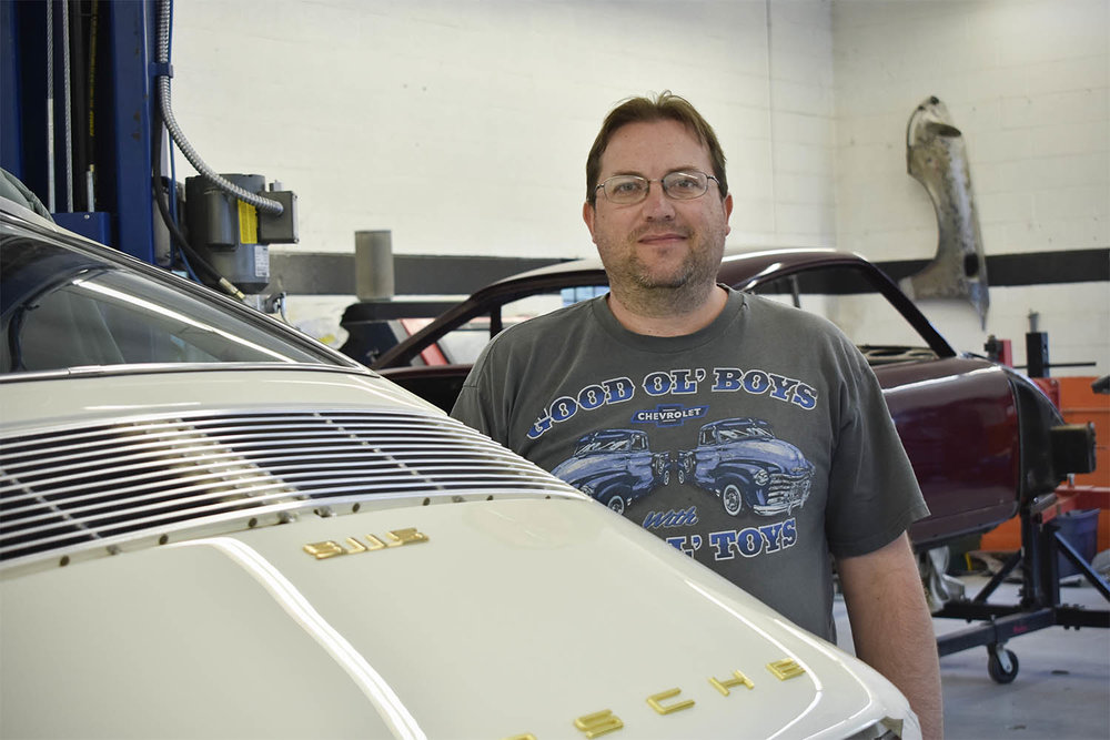 Jeremy, Porsche assembly and disassembly at Vintage Sportscar Restorations in Phoenix, Oregon.