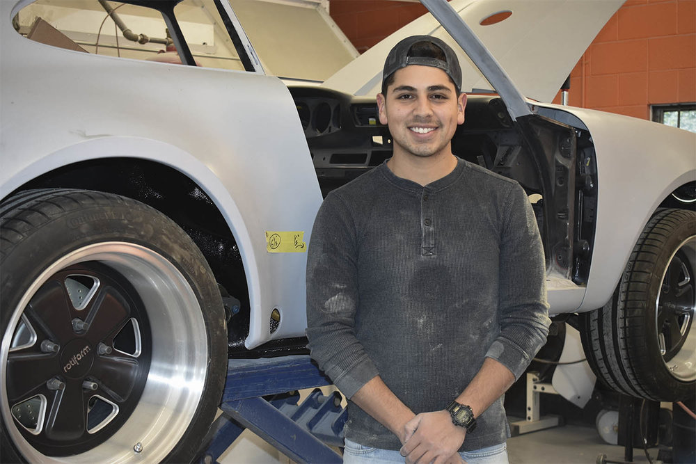 Tony is the Porsche apprentice at Vintage Sportscar Restorations in Southern Oregon.