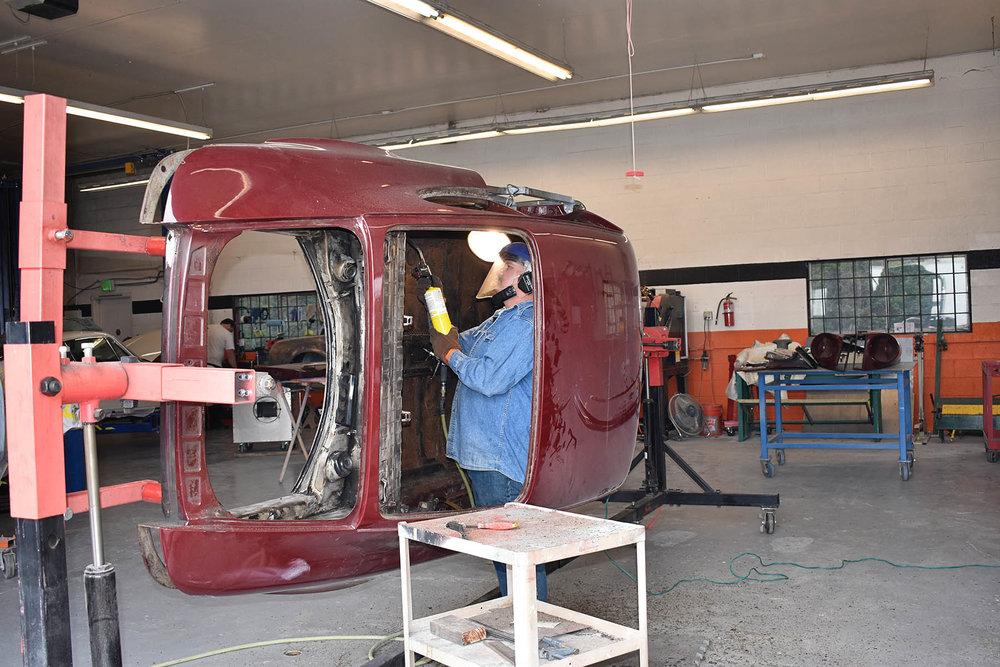 Porsche metal fabrication and restoration