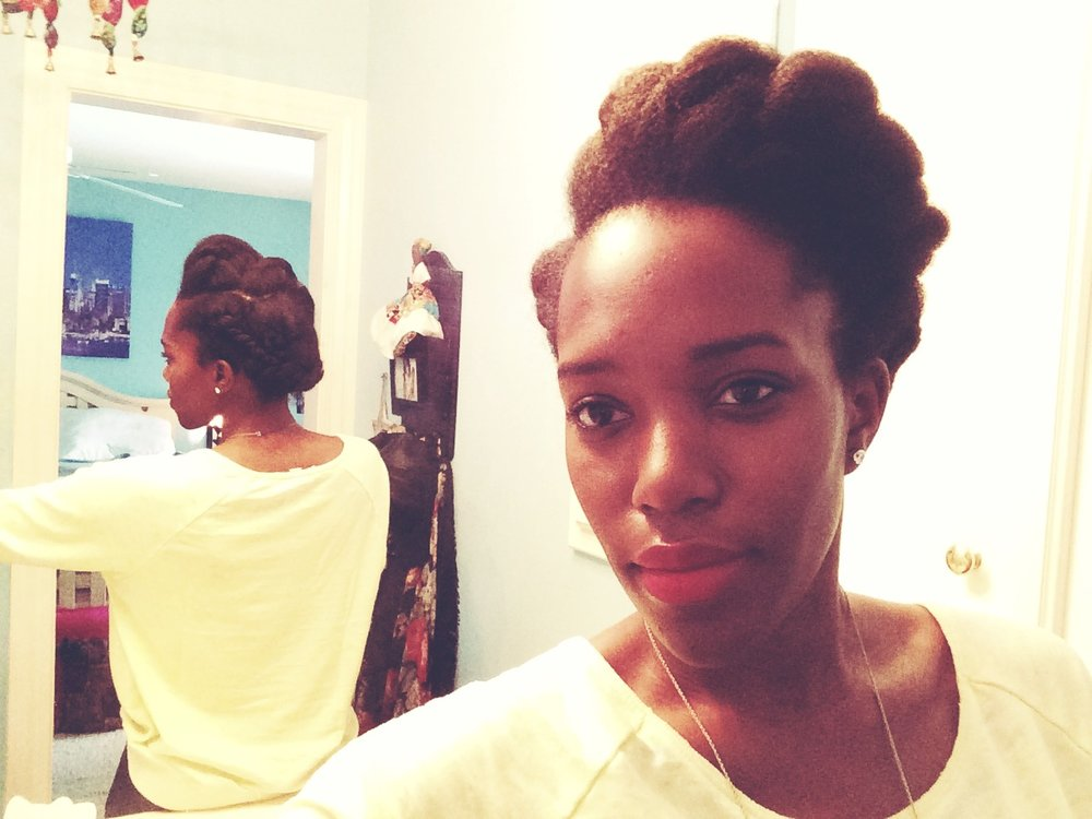 Natural Hair How To Protective Style Two Strand Twist Updo