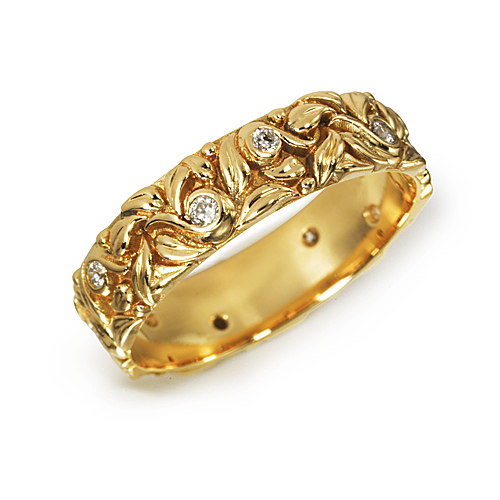 Atelier Gigi custom jewelry nature gold diamond Ring