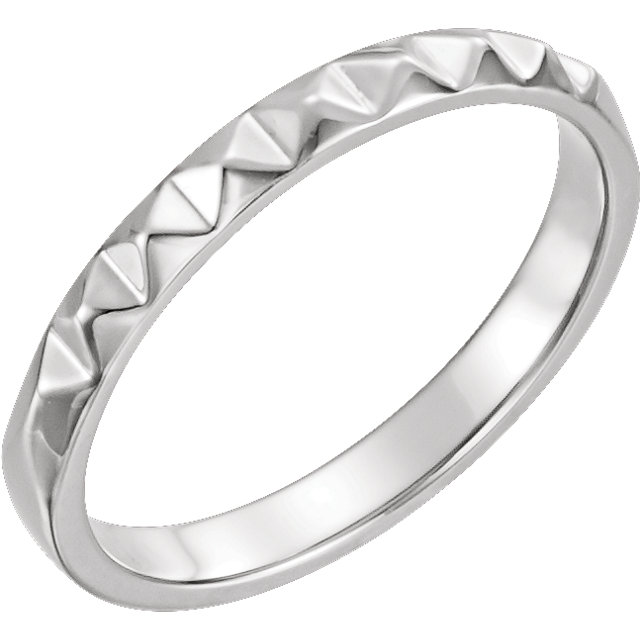 Pyramid Motif Stackable Band