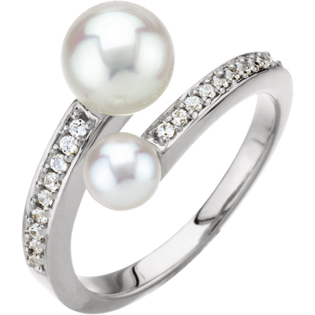 Double Bypass Pearl Ring