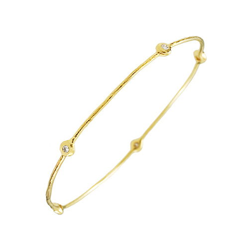 Organic Diamond Bangle