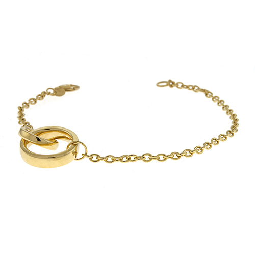 Double Circle Chain Bracelet