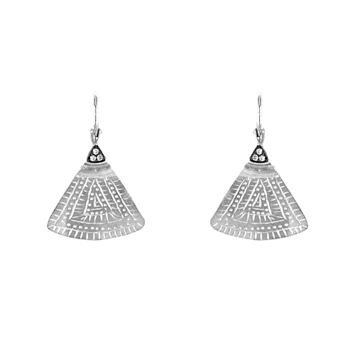 Tribal Triangle Earrings