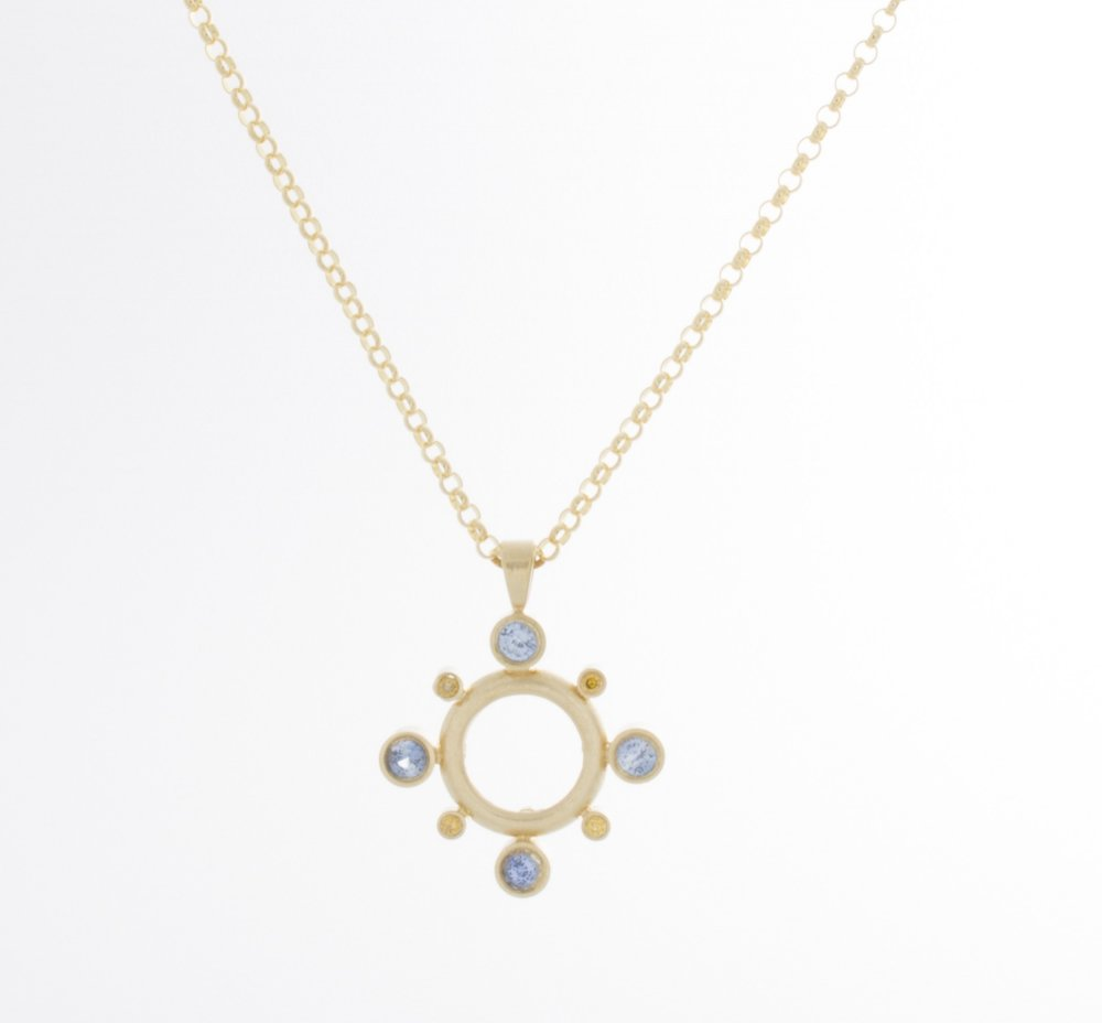 Polaris Diamond & Sapphire Necklace