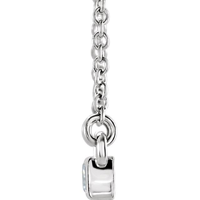 Diamond Baguette Bar Necklace